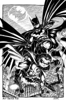 Batman and Robin by derrickfish