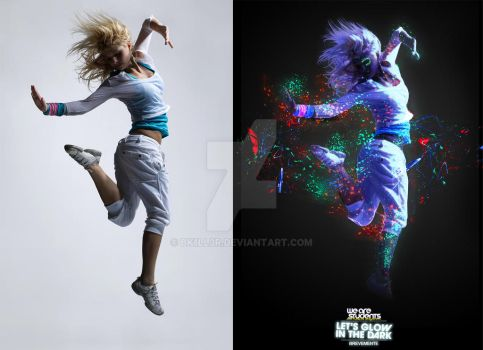 Let's Glow In The Dark work comparison by BK1LL3R