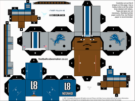 Calvin Johnson Lions Cubee by etchings13