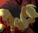 Applejack Vampire Hunter by xWhiteDreamsx