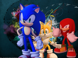 Team Sonic Wallpaper by CreamFireballWPS