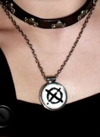 Slender Man Necklace by Reitanna-Seishin