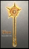 Throne - Staff of Fire by Unkn0wnfear