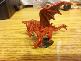 Young Red Dragon miniature by KiwiPheonix