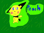 Peach the Pichu by PichuandEeveefan101
