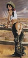 Desert Rain by PinUpPaintings