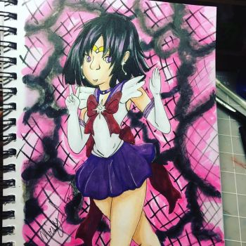 Sailor Saturn Fanart by Sniffy678578