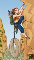 Hard Climb for a Muse by icekatze