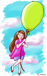 Girl with balloon by emilsa