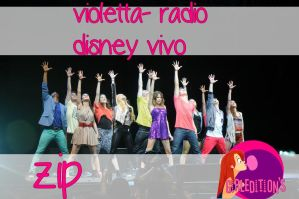 Pack - Violetta en Radio Disney Vivo by TutosGirlEditons