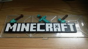 Perler Beads Minecraft Logo (Pre-Fused) by Dahme