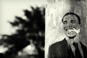 obama stencil by prettyfreakjesper