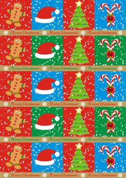 Gifts wrapping paper blue by spidergypsy