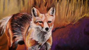 Fox pastel close up by chibudgielvr