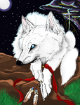 the white wolf by Crazywolfs