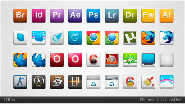 128 px icons by Ampeross