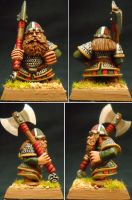 Dwarf Warrior Galir Fianakisson by Hobbittzu