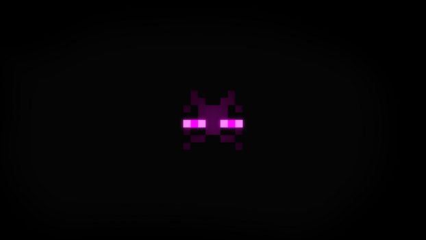 Minimalist Minecraft Wallpaper (16:9) - Enderman by krysis08