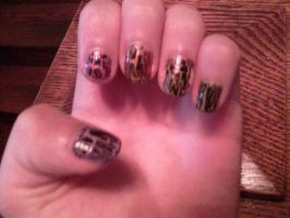 my kick butt nails by wittlecabbage