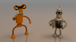Bender and Roberto futurama by BrOncO3D