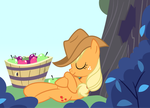 Applejack Is Napping After Applebuckin' by Arceus55