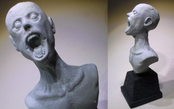 Zombie Bust - Work in Progress by faustdavenport by faustdavenport