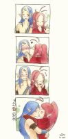 lovers kisses by Cajochu