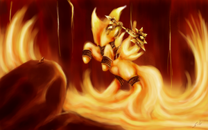Ragnapony The Fire Lord by Mugi-Hamster