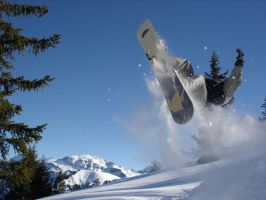 Snowboard Jump 97313 by StockProject1