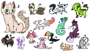 Adoptables dump - Offer to adopt- OPEN by Daisyvayle