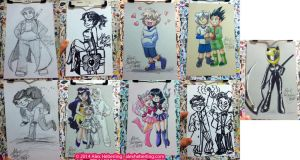 Matsuricon 2014 Sketch Card Commissions by alex-heberling
