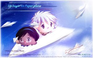 Flying high on the Paper Plane by Kauthar-Sharbini