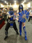 Phoenix Comicon 2015 Subzero and Kitana by Demon-Lord-Cosplay