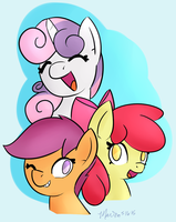 Stackin' Fillies by MelodicMarzipan
