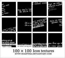 100x100 Icon text textures - 3 by DasfnBa