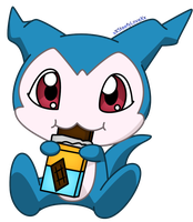 Demiveemon, Eating a Chocolate by xXSteefyLoveXx