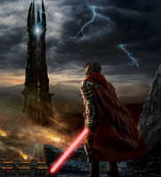 Lord of the Rings with a Lightsaber by VitorRamosOliveira