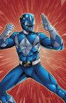 Blue Power Ranger by ChrisSummersArts
