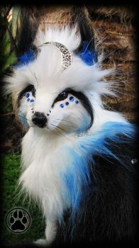SOLD Nadir the celestial fox poseable art doll! by CreaturesofNat