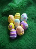 Happy Easter lil Fimo Easter Eggs by BerryMouse