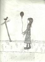 Farewell, My Black Balloon by caged-birds