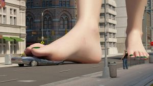 Cassie Croft 300ft 3 by Tiny-Mk by Giantess-Cassie