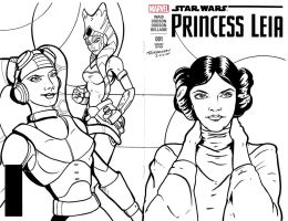 Leia Sketch cover by stourangeau