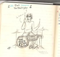 """Drummer """"the black keys"""" by Queen-of-cydonia"""