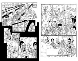 FANBOYS VS ZOMBIES #8 sample2 by BTURNERart