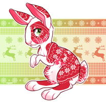 December 8th - cozy sweater rabbit by Kiboku