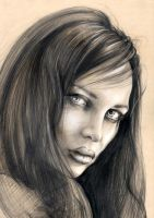 Portrait with Chalk Pencils by Illustrate23