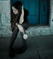 There was this blue door and by vampire-zombie