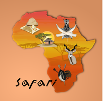 Safari Clipart Set by gnokii