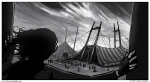 Circus Saudade - The Circus Sets Up by CCampbellArt